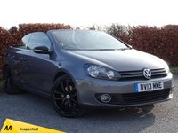 USED 2013 13 VOLKSWAGEN GOLF 2.0 GT TDI BLUEMOTION TECHNOLOGY 2d convertible BUY NOW PAY IN 6 MONTHS***