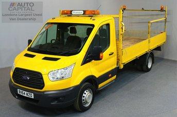 2014 FORD TRANSIT 2.2 350 C/C DRW 2d 124 BHP EXTRA LWB RWD DROPSIDE LORRY  £11490.00