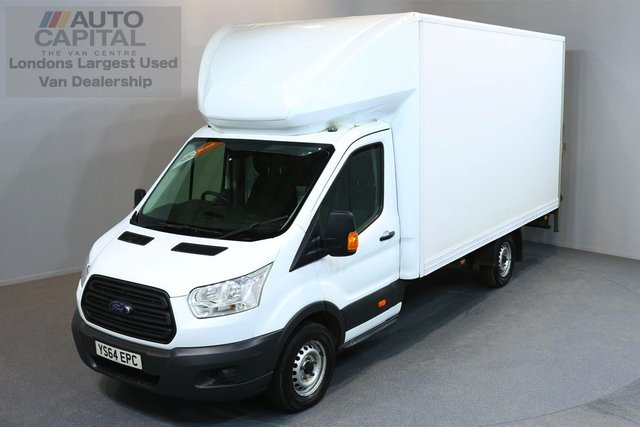 2014 64 FORD TRANSIT 2.2 350 C/C SRW 3d 124 BHP EXTRA LWB REAR TAIL LIFT FITTED LUTON VAN ONE OWNER FROM NEW