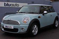 2012 MINI HATCH ONE 1.6 ONE 3d 98 BHP £7750.00