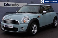 2012 MINI HATCH ONE 1.6 ONE 3d 98 BHP £7750.00