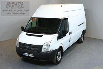 2012 FORD TRANSIT 2.2 350 H/R 5d 124 BHP LWB FWD ELECTRIC WINDOWS   £5990.00