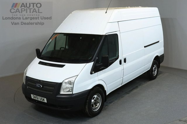 2012 61 FORD TRANSIT 2.2 350 H/R 5d 124 BHP LWB REAR TOW FITTED  ONE OWNER FROM NEW