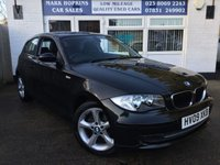 USED 2009 09 BMW 1 SERIES 2.0 116I SPORT 3d 121 BHP 21K FSH TWO OWNERS 6 SPEED BLUTOOTH F/R PARK SENSORS  OUTSTANDING CONDITION
