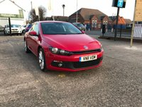 USED 2011 11 VOLKSWAGEN SCIROCCO 2.0 GT TDI BLUEMOTION TECHNOLOGY 2d 140 BHP JUST ARRIVED  Full Main Dealer Service History Including cambelt-1 Owner-Diesel