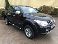 USED 2016 16 MITSUBISHI L200 2.4 DI-D 4X4 BARBARIAN DCB 1d 178 BHP MASSIVE SPEC, LEATHER HEATED SEATS, SAT NAV, REVERSE CAMERA,