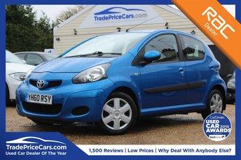 2010 TOYOTA AYGO 1.0 BLUE VVT-I 5d AUTO 67 BHP £4950.00