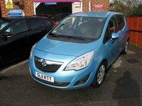 2011 VAUXHALL MERIVA 1.4 EXCLUSIV 5d 98 BHP £5995.00