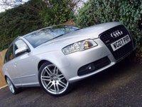 2007 AUDI A4 2.0 TDI S LINE SPECIAL EDITION 5d 170 BHP £5499.00