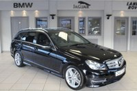 USED 2014 63 MERCEDES-BENZ C CLASS 3.0 C350 CDI BLUEEFFICIENCY AMG SPORT 5d AUTO 262 BHP MERCEDES BENZ SERVICE HISTORY + HALF BLACK LEATHER SEATS + BLUETOOTH + XENON HEADLIGHTS + CRUISE CONTROL + 18 INCH ALLOYS + PARKING SENSORS + RAIN SENSORS