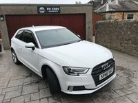 USED 2016 16 AUDI A3 1.0 TFSI SPORT 3d 114 BHP £20 YEAR ROAD TAX. LOW MILES. SAT NAV. BALANCE OF MANUFACTURERS WARRANTY REMAINING
