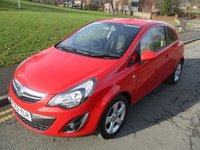 2012 VAUXHALL CORSA 1.2 SXI 3d 83 BHP £4499.00
