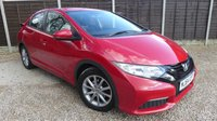 USED 2014 64 HONDA CIVIC 1.4 I-VTEC S 5dr Low Mileage, A/con, 1 Owner