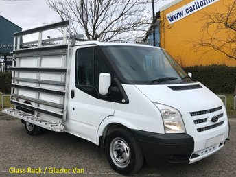 2012 FORD TRANSIT 2.2 Tdci 100 260 Swb [ GLASS FRAIL RACK ] Low Roof Van Ex Lease Service Printout Delivery T,B,A £5950.00