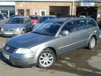 USED 2004 04 VOLKSWAGEN PASSAT 1.9 HIGHLINE TDI 5d 129 BHP 2 OWNER+GOOD HISTORY+LEATHER