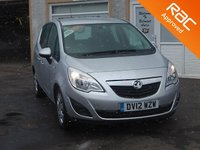 USED 2012 12 VAUXHALL MERIVA 1.4 EXCLUSIV A/C 5d 99 BHP 3 Service stamps, Air conditioning , USB ,AUX