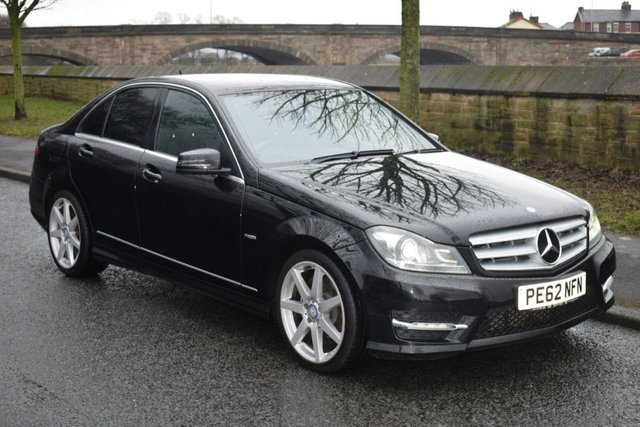 2012 62 MERCEDES-BENZ C CLASS 2.1 C220 CDI BLUEEFFICIENCY SPORT 4d AUTO 168 BHP