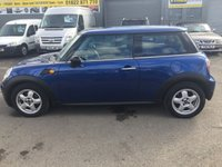 USED 2008 58 MINI HATCH ONE 1.4 ONE 3 DOOR AUTOMATIC 94 BHP IN METALLIC BLUE WITH 77000 MILES. APPROVED CARS ARE PLEASED TO OFFER THIS MINI HATCH ONE 1.4 ONE 3 DOOR AUTOMATIC 94 BHP IN METALLIC BLUE WITH 77000 MILES AND A FULL SERVICE HISTORY SERVICED AT 15K,24K,37K,49K,54K,59K AND 74K A GREAT LITTLE AUTOMATIC WITH A GREAT HISTORY.