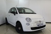 USED 2015 15 FIAT 500 1.2 POP 3DR 69 BHP AIR CONDITIONING + RADIO/CD + ELECTRIC WINDOWS + ELECTRIC MIRRORS