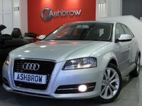 USED 2012 12 AUDI A3 SPORTBACK 1.6 TDI SPORT 5d 105 S/S START STOP TECHNOLOGY, FRONT FOG LIGHTS, 17 INCH 10 SPOKE ALLOYS, GREY CLOTH INTERIOR, SPORT SEATS, LEATHER MULTIFUNCTION STEERING WHEEL, DUAL ZONE ELECTRONIC CLIMATE CONTROL, CD HIFI, AUX INPUT, FRONT CENTRE ARM REST, SPORT SEATS, ELECTRIC WINDOWS x4, ELECTRIC HEATED MIRRORS, REMOTE CENTRAL LOCKING, TRIP COMPUTER, ISO FIX, FOLDING REAR SEATS, AIRBAGS WITH PASSENGER OFF FUNCTION, SUN BLIND ON REAR PARCEL SHELF.  FULL SERVICE HISTORY, CAMBELT & WATER PUMP CHANGED, £20 ROAD TAX, HPI CLEAR
