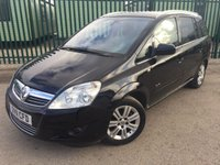 2011 VAUXHALL ZAFIRA 1.8 ELITE 5d 138 BHP 7 SEATER LEATHER ALLOYS PRIVACY FSH MOT 02/19 £4990.00