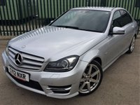 2012 MERCEDES-BENZ C CLASS 2.1 C220 CDI BLUEEFFICIENCY SPORT 4d AUTO 168 BHP SAT NAV LEATHER £12390.00