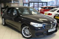 USED 2015 64 BMW 5 SERIES 2.0 520D M SPORT GRAN TURISMO 5d 181 BHP FULL DAKOTA WHITE LEATHER SEATS + PRO SAT NAV + PANORAMIC ROOF + BLUETOOTH + ELECTRIC TAILGATE + HEATED FRONT SEATS + DAB RADIO + CRUISE CONTROL + 17 INCH ALLOYS
