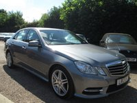 2013 MERCEDES-BENZ E CLASS 2.1 E220 CDI BLUEEFFICIENCY S/S SPORT 4d AUTO 170 BHP £11500.00