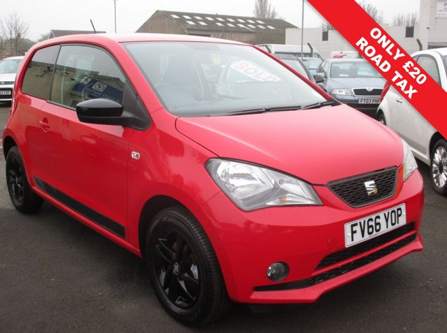 USED 2017 66 SEAT MII 1.0 DESIGN 3d 59 BHP ONLY 2,112 MILES FROM NEW