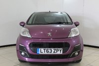 USED 2013 63 PEUGEOT 107 1.0 ALLURE 5DR 68 BHP SERVICE HISTORY + BLUETOOTH + AIR CONDITIONING + AUXILIARY PORT + 14 INCH ALLOY WHEELS