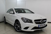 USED 2015 15 MERCEDES-BENZ CLA 2.1 CLA220 CDI SPORT 4DR AUTOMATIC 170 BHP SERVICE HISTORY + HEATED HALF LEATHER SEATS + BLUETOOTH + PARKING SENSOR + CRUISE CONTROL + MULTI FUNCTION WHEEL + 18 INCH ALLOY WHEELS