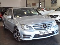 USED 2013 13 MERCEDES-BENZ C CLASS 2.1 C220 CDI BLUEEFFICIENCY AMG SPORT PLUS 4d AUTO 168 BHP +SAT NAV+XENONS+LTHR+FSH+