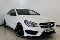 USED 2014 63 MERCEDES-BENZ CLA 2.0 CLA45 AMG 4MATIC 4DR 360 BHP FULL MERCEDES SERVICE HISTORY + HALF LEATHER SPORT SEATS + SAT NAVIGATION + PARKING SENSOR + BLUETOOTH + CRUISE CONTROL + ILLUMINATION PACKAGE + CLIMATE CONTROL + 19 INCH AMG ALLOY WHEELS