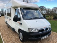 USED 2005 05 CI MOTORHOME DUCATO 2.0 30 JTD 644 2/4 BERTH MOTORHOME IMMACULATE CONDIOTION, MAINTAINED REGARDLESS