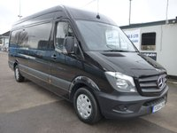 USED 2015 64 MERCEDES-BENZ SPRINTER 313 CDI LWB HI ROOF, 130 BHP [EURO 5], AIR CON, SAT NAV, 1 COMPANY OWNER