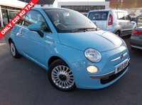 USED 2013 13 FIAT 500 1.2 LOUNGE 3d 69 BHP FULL MAIN DEALER SERVICE HISTORY £20 PER YEAR RD TAX ONLY ONE OWNER.