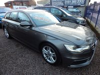 USED 2013 13 AUDI A6 2.0 AVANT TDI S LINE 5d AUTO 175 BHP 1 OWNER FROM NEW, F.A.S.H, 1/2 LEATHER INTERIOR, SAT NAV,  BLUETOOTH