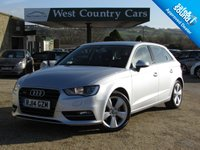 USED 2014 14 AUDI A3 2.0 SPORTBACK TDI QUATTRO SPORT 5d AUTO 182 BHP High Specification Hatchback