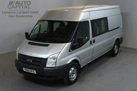 USED 2010 10 FORD TRANSIT 2.4 350 100 BHP L3 H2 LWB MEDIUM ROOF 6 SEATER COMBI VAN ONE OWNER FROM NEW, FULL SERVICE HISTORY