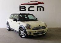 2008 MINI HATCH ONE 1.4 ONE 3d AUTO 94 BHP £4985.00