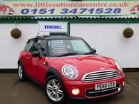 USED 2010 60 MINI HATCH COOPER 1.6 COOPER D 3d 112 BHP FULL MAIN DEALER HISTORY, DIESEL, ONE OWNER