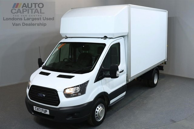 2017 17 FORD TRANSIT 2.0 350 L3 C/C 3d 168 BHP LWB EURO 6 ENGINE REAR WD LUTON VAN ONE OWNER FROM NEW