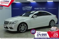 2011 MERCEDES-BENZ E CLASS 3.0 E350 CDI BLUEEFFICIENCY SPORT 2d AUTO 231 BHP £14999.00