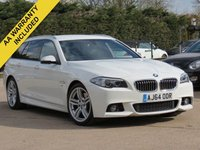 USED 2015 64 BMW 5 SERIES 3.0 530D M SPORT TOURING 5d AUTO 255 BHP AUTOMATIC, FULL LEATHER + SAT NAV