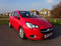 2017 VAUXHALL CORSA 1.4 SE 5d AUTO 89 BHP RED 1 OWNER £11295.00