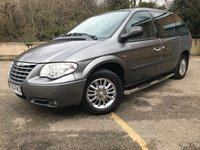 2006 CHRYSLER VOYAGER 2.4 SE TOURING 5d 7 SEATER, REAR DVD, DEALER PX ONLY 81K  £1990.00