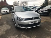 USED 2011 60 VOLKSWAGEN POLO 1.2 S 5d 60 BHP NEED FINANCE? WE STRIVE FOR 94% ACCEPTANCE