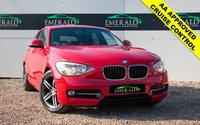USED 2011 61 BMW 1 SERIES 2.0 118D SPORT 5d 141 BHP £0 DEPOSIT FINANCE AVAILABLE, CD CHANGER, AUX INPUT, DAB RADIO, BLUETOOTH CONNECTIVITY, BMW EFFICIENT DYNAMICS,CRUISE CONTROL, 6 SPEED MANUAL GEARBOX