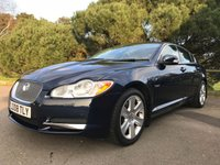 USED 2008 08 JAGUAR XF 2.7 PREMIUM LUXURY V6 4d AUTO 204 BHP FULL AND UPTO DATE JAGUAR HISTORY IN BLUE WITH CREAM LEATHER