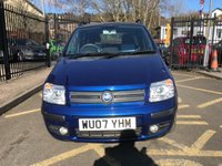 USED 2007 07 FIAT PANDA 1.2 100HP 5d 99 BHP PRETTY METALLIC BLUE PAINT WORK, GREY CLOTH INTERIOR, CD PLAYER, ALLOY WHEELS, AIR CONDITIONING, NEW MOT ON PURCHASE, LOW MILEAGE, RARE DIESEL, CHEAP TO RUN AND INSURE